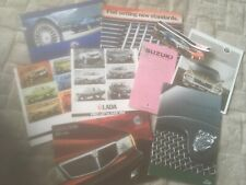. COLLECTION OF VARIOUS CAR. BROCHURES x 9   See photos for what is incl
