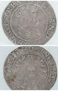 1556 AUSTRIA, Ferdinand I, Groschen (3 Kreuzer), Silver Coin
