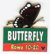 Disney Pin:WDW/DLR Cast Lanyard Series #3  Animal Kingdom Parking Sign Butterfly