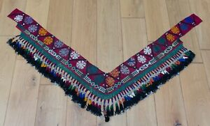 """7.87"""" x 51.18"""" Tassel Segusha Belly Dance Uzbek VINTAGE FAST Shipment UPS 12192"""