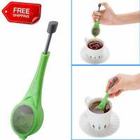 New Strainer Reusable Tea Bag Infuser Filter Diffuser Loose Tea Leaf Silicone UK