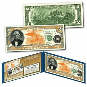 1882 Series Thomas Hart Benton $100 Gold Certificate designed on Real $2 Bill