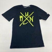 Nike Running T Shirt Men's Small Short Sleeve Black Regular Fit Cotton