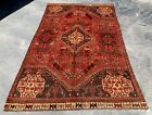 Distressed Hand Knotted Vintage Shrz Wool Area Rug 7 x 5 Ft (20193 HMN)
