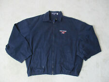 VINTAGE Ralph Lauren Polo Sport Jacket Adult Large Blue Spell Out Coat Men 90s *