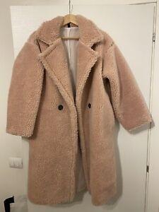Teddy Coat Cappotto Pelliccia Sintetica Rosa Taglia Unica
