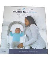 Baby Delight Snuggle Nest Dream Portable Infant Sleeper - Gray Scribbles
