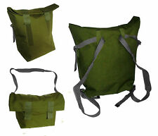 Waterproof Danish Army Roll Top Rucksack Backpack Shoulder Bag Green & Black