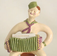 HEDI SCHOOP SAILOR PLAYING ACCORDION CERAMIC BUSINESS CARD HOLDER or PLANTER