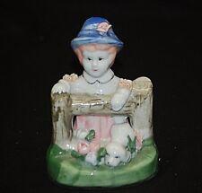 Whimsical Girl w Puppy Figurine Shelf Decor