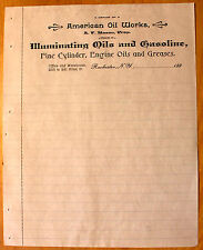 Original Unused 1890s Letterhead American Oil Works Rochester NY