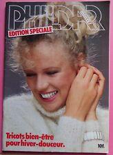 §- catalogue ancien laine tricot PHILDAR édition spéciale hiver 1981
