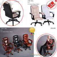"1/6 Scales Head Office Swivel Boss Chair For 12"" Dolls Action Figure Collections"