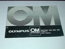 notice OLYMPUS OM moteur vue par vue winder 1 en français photo photographie