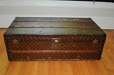 1928 LOUIS VUITTON Travel Wardrobe Steamer Trunk Suitcase Chest purse bag LV...