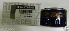 Gen Renault Oil Filter. Part Number 7700274177,Clio/Megane/Scenic/Kangoo/1.4/1.6
