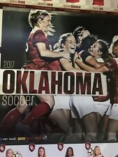2017 Oklahoma Sooners Soccer Schedule Poster Player Cards Free Shipping