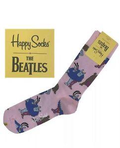 Happy Socks The Beatles Chief Blue Meanie & Jeremy Hillary Boob, PhD Pink Socks