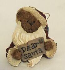 Boyds Bearstone Christmas Ornament - Jolly Ol St Nickelbeary