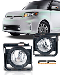 2011-2015 Scion xB Clear Fog Light Lamp Complete Kit Switch And Harness Included