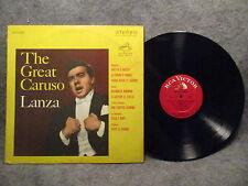 33 RPM LP Record The Great Caruso Lanza RCA Victor Records Red Seal LSC-1127 VG+
