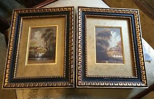 (2) Oil on Copper Miniatures, re-matted, ready to hang, SIGNED