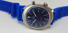 RARE 60'S OMEGA CHRONOSTOP CAL:865 BLUE DIAL MANUAL WIND MAN'S WATCH