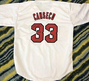 JOSE CANSECO Boston Red Sox Replica Baseball Jersey Beckett Holo Inscription