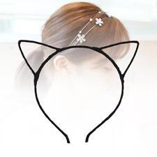 Women Girls Fashion Cute Simple Headband Hair Head Band Gifts Cat Ears Black UP