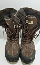UGG  LEATHER WINTER SNOW BOOTS Sherpa Fleece lined Style #5521 mens sz 10