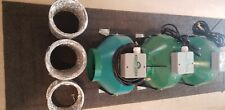 Lot of 3 Hydrofarm Acdf6 Active Air 6 Inch Inline Hydroponic Fan w/mounts/ducts