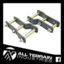 """2"""" INCH LIFT EXTENDED GREASABLE SHACKLES ISUZU DMAX HOLDEN COLORADO 2012 ON KIT"""