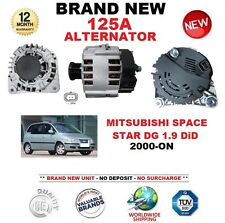 FOR MITSUBISHI SPACE STAR DG 1.9 DiD 2000-ON 125A ALTERNATOR with CLUTCH PULLEY