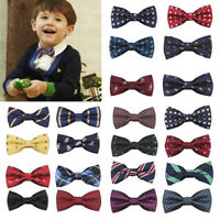 Child Kids Baby Boys Bow Tie School Wedding Party Xmas Formal Pageant Necktie UK