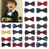 Children Baby Boys Bow Tie School Wedding Party Xmas Formal Pageant Necktie UK