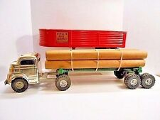 1950's  Structo Chrome Truck - Structo Steel Co. &  Timber Toter Logging Trailer