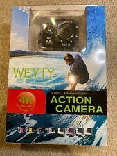 WeyTy Action Camera, 4K Ultra HD Waterproof Camcorder 16MP 170° Degree Wifi
