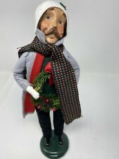 Byers Choice 1994 Carolers Man Holding Wreath *Signed/Numbered 48/100*