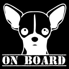 Chihuahua on board car sticker decal