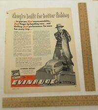 EVINRUDE Motors - advertisement - Mar 1950 - magazine AD