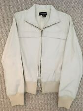 Women's Vintage Leather White/Cream Sports Jacket
