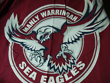 NRL FOOTBALL MANLY SEA EAGLES SINGLE QUILT COVER WITH PILLOWCASE NEW DESIGN SALE