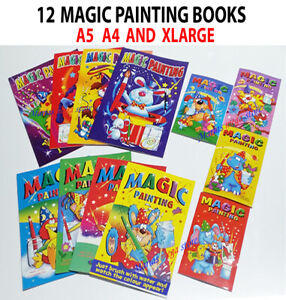 Children's Magic Painting Colouring Book Books Create water Art A5 - A4 - XLARGE