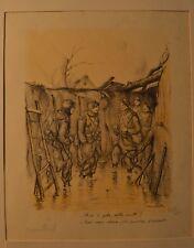 LITHOGRAPHIE POULBOT format (38/28cm) signée numérotée & contresignée 1915