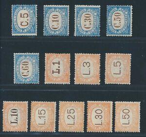 "SAN MARINO postage due 1925, Mi. 19-31 */MH, ""third issue"", vf/vf!! Sassone no."