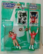 NFL Starting Lineup 1997 Classic Doubles Joe Montana Dwight Clark Football