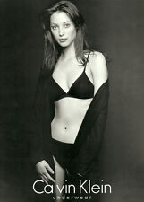 Modern  Lingerie Ad, Calvin Klein Bra Panties, Christie Turlington Sexy! -092613