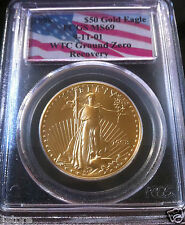 1998 RARE $50 Gold Eagle PCGS MS69 World Trade Center Ground Zero Recovery
