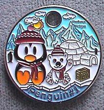 Penguin #1 2011 Pathtag # 15712 GEOCACHING Pathtags Geocoin Polar BEAR Igloo