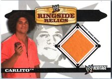 WWE Carlito 2006 Topps Heritage Event Worn T-Shirt Ringside Relic Card DWC
